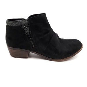 Dunes Kimball Black Suede Ankle Boots